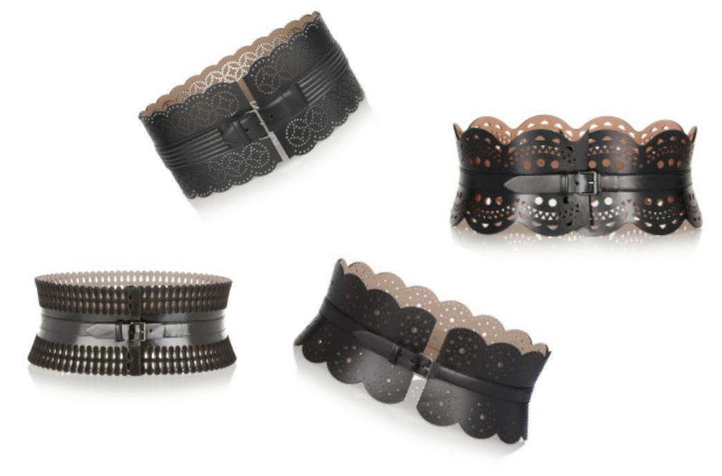 Cinturones Alaïa perfonados