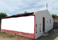 Casa do senhor Luiz Gonzaga incendiada. FOTO: Walter Lima/ Blog do Walter Lima