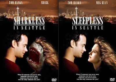 parodie affiches de films avec des requins nuits blanches a seattle