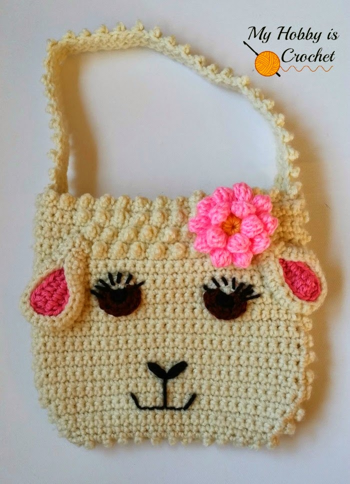 My Hobby Is Crochet Darling Sheep Crochet Purse For Little Girls