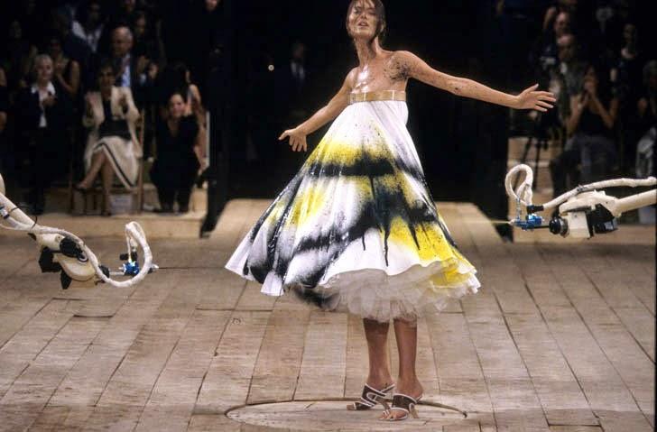 Alexander Mcqueen Spray Paint Dress