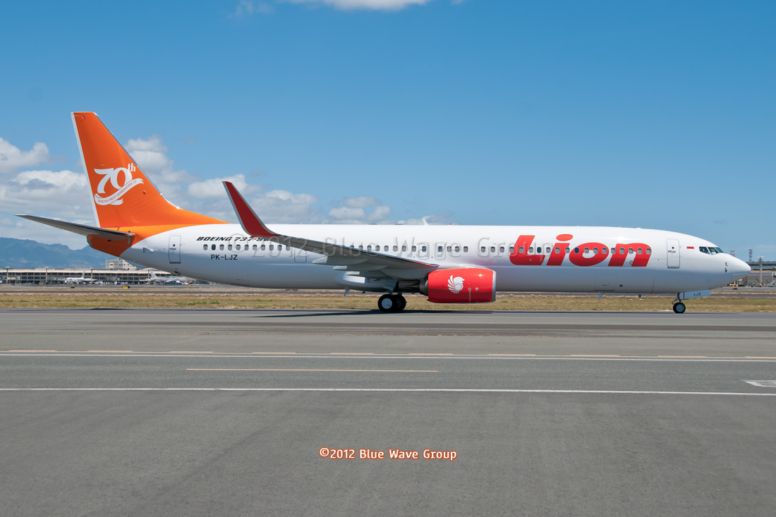 lion airlines 70th 737...