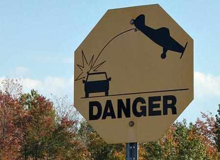 señales de tránsito graciosas