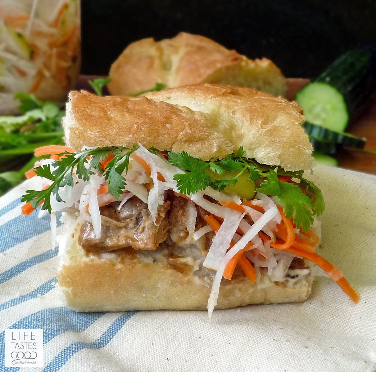 ... banh mi caramelized pork bánh mì pork meatball banh mi banh mi with
