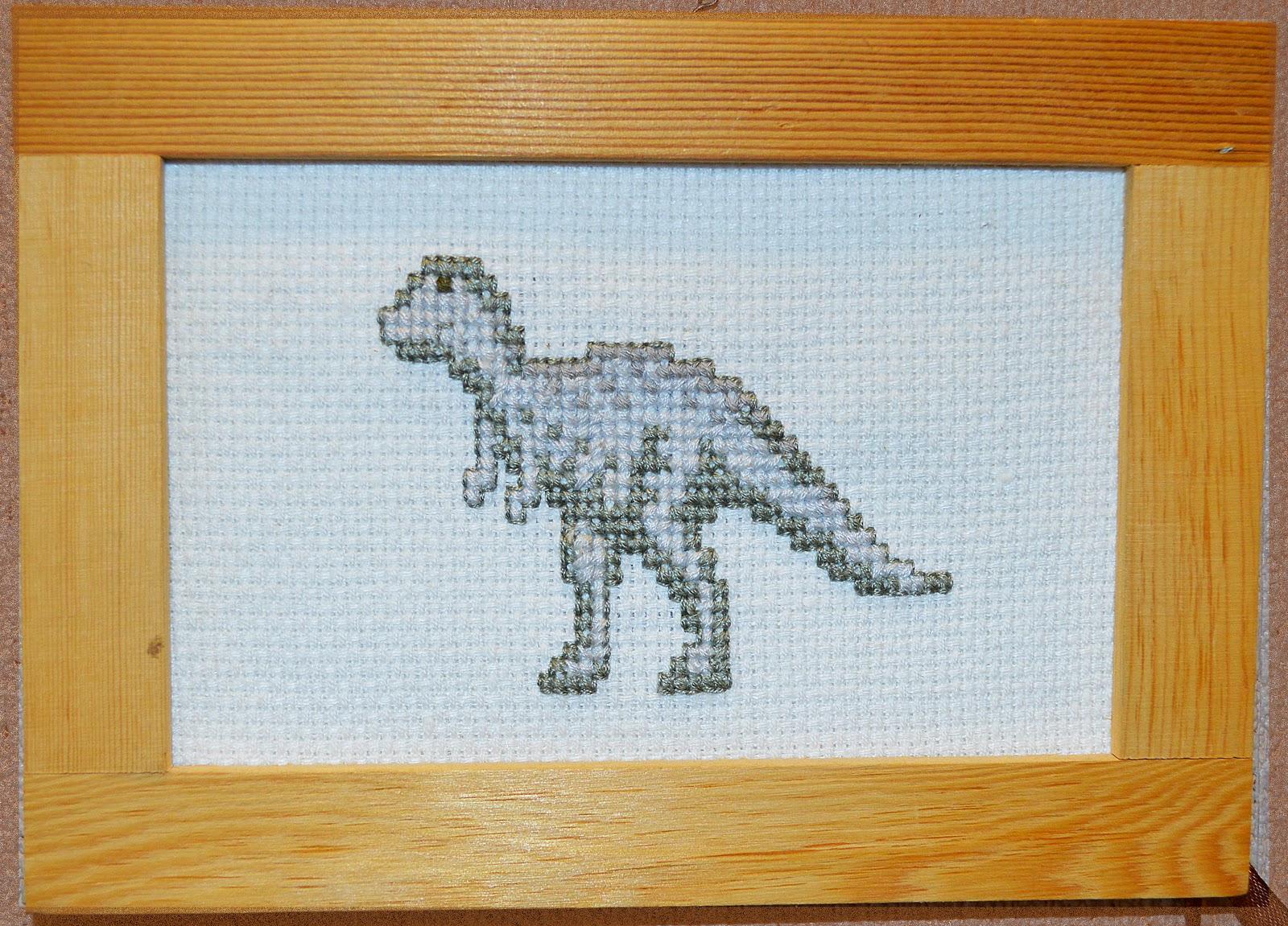 схема крестом динозавры