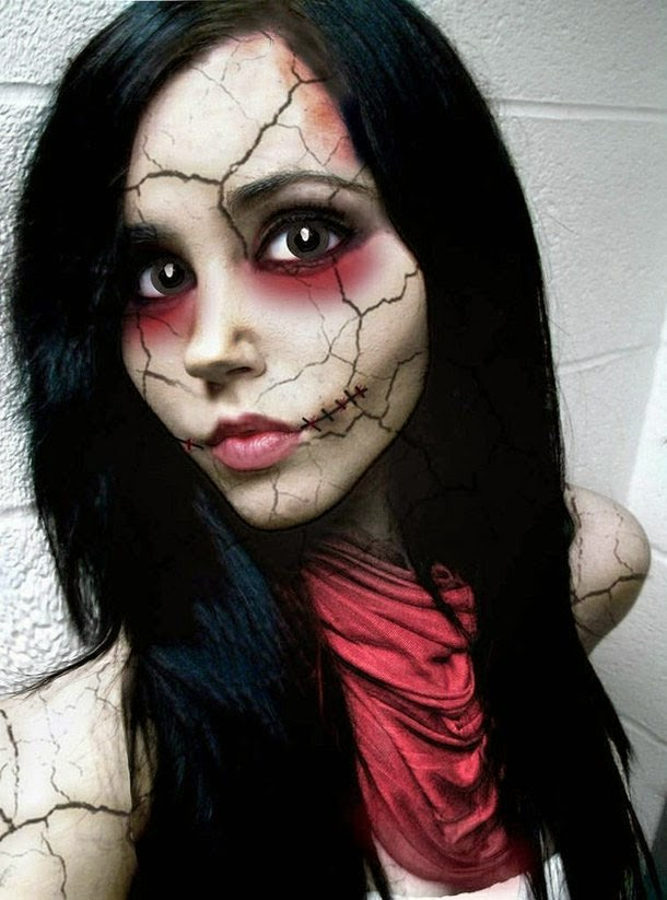Halloween Beautiful Face Makeup of Girl
