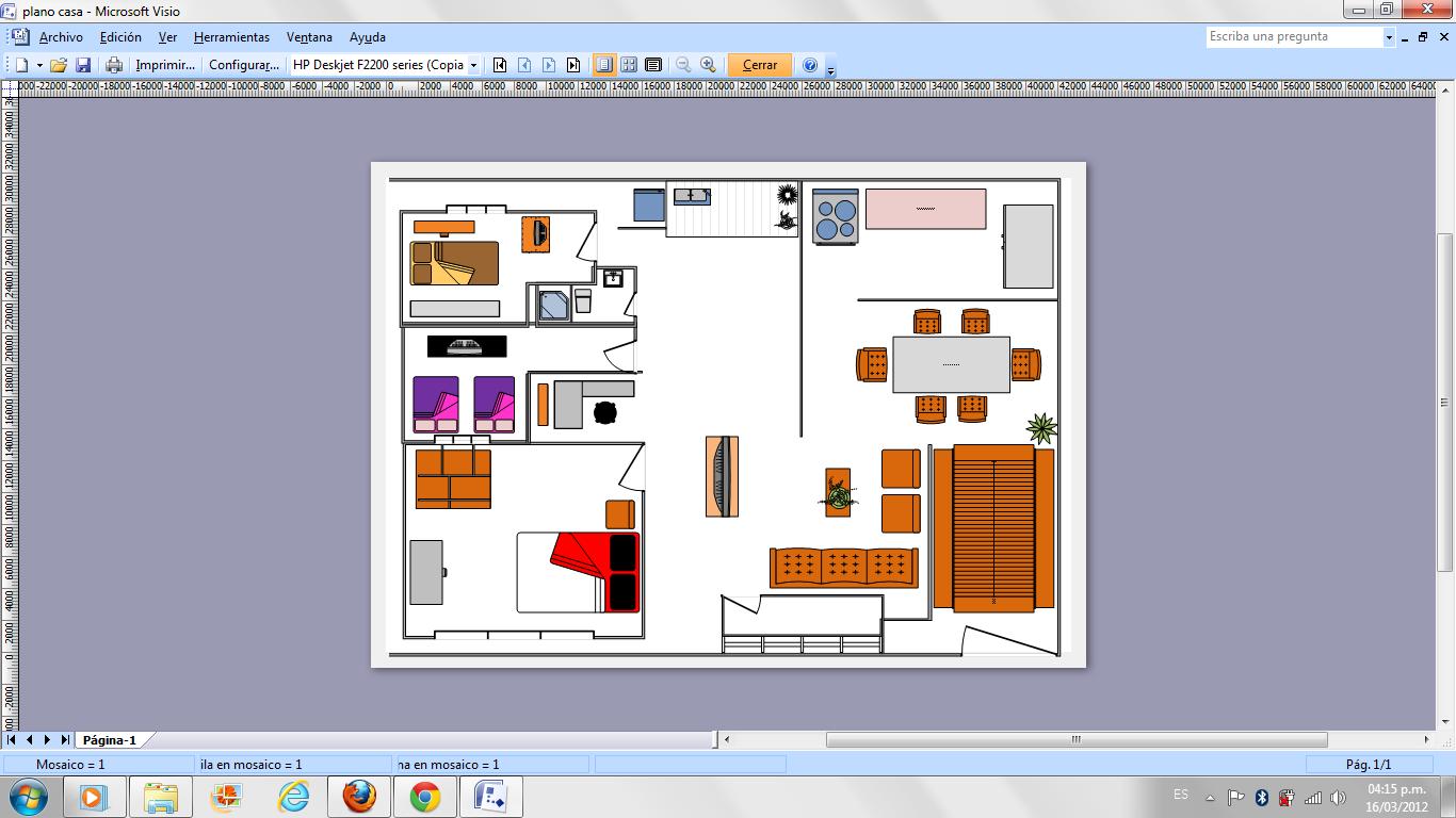 Multimedia corsaje 2012 tercera actividad microsoft for Como hacer un plano de una oficina