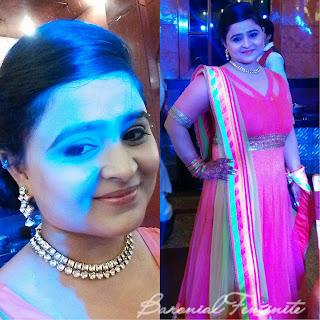 Anarkali Suit in Neon Colors from Meena Bazaar