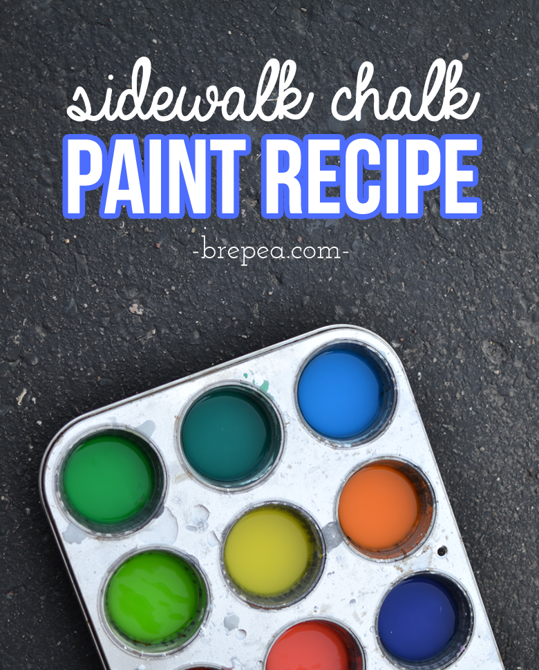 A great sidewalk chalk idea, make your own diy sidewalk chalk paint! It only takes a few simple ingredients, great for summer fun ideas for kids.