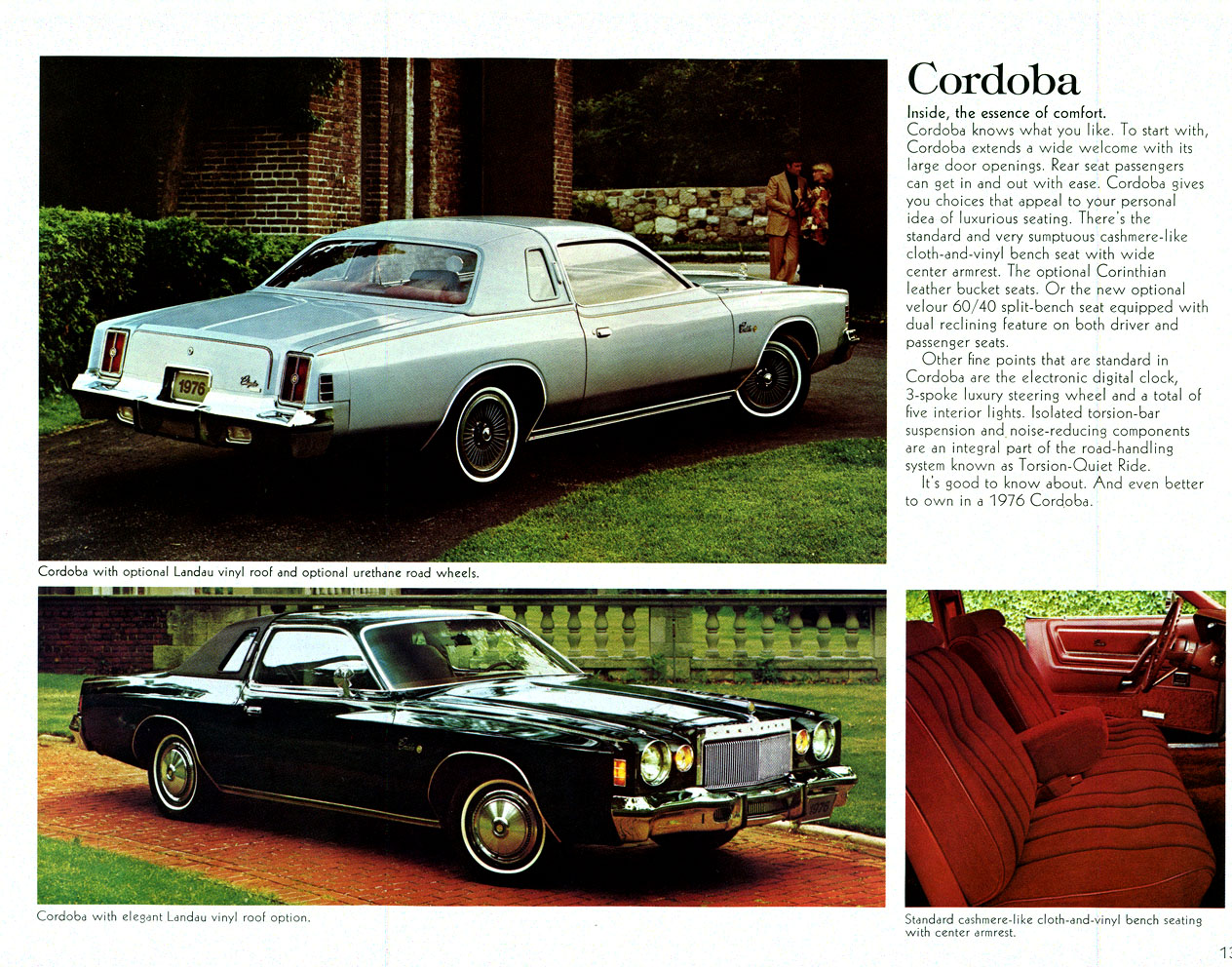 1976 chrysler cordoba brochure spread this shows rear end styling