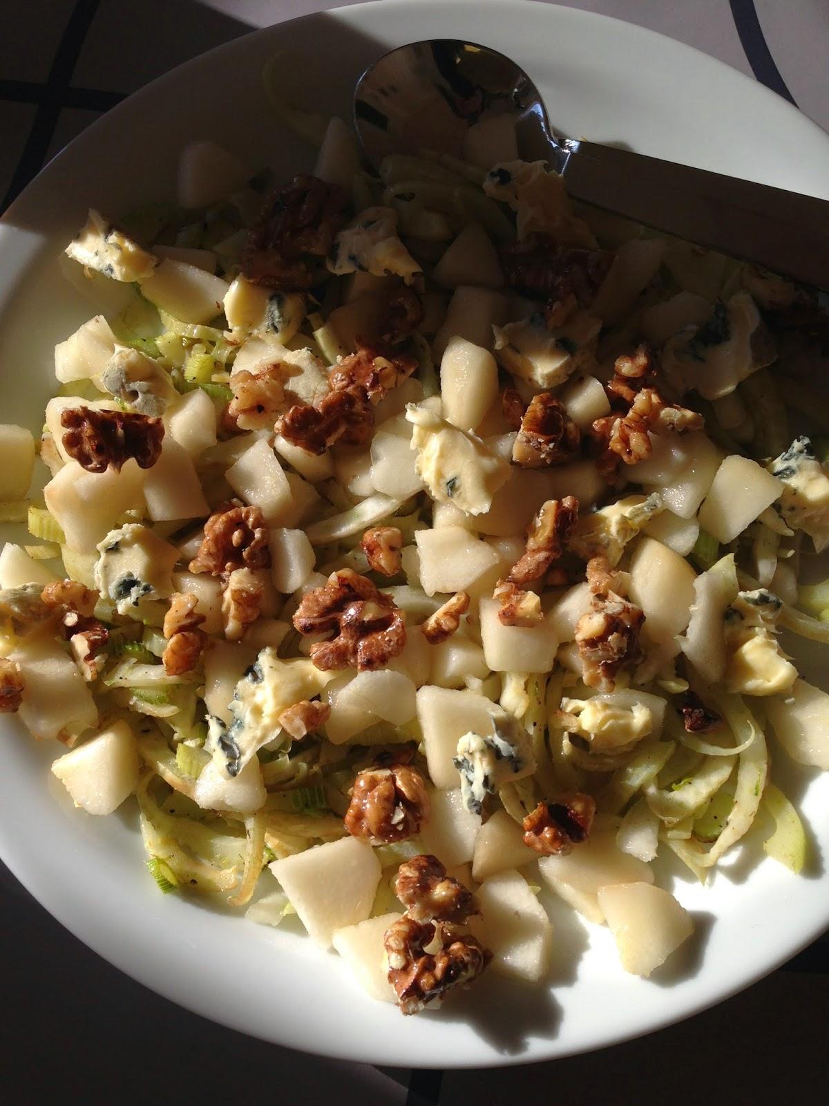 salat pære blåskimmelost