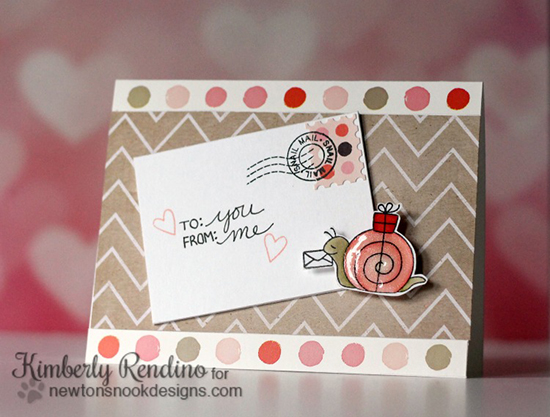 Snail Mail Card by Kimberly Rendino | In Slow Motion Stamp set by Newton's Nook Designs
