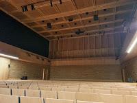Widok na scenę Europejskiego Centrum Muzyki K. Pendereckiego