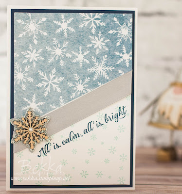 Fast and Fabulous Christmas Card Featuring the Season Of Cheer Papers from Stampin' Up! UK