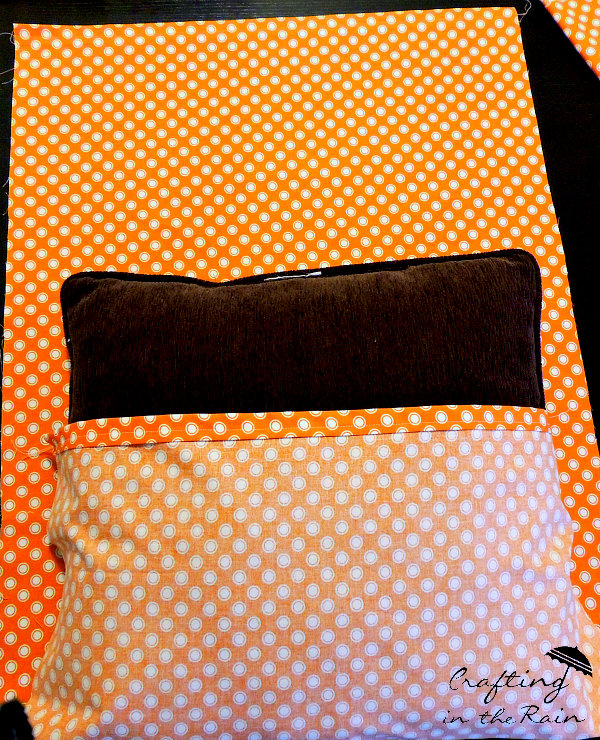 Easy pillow cover at Crafting in the Rain