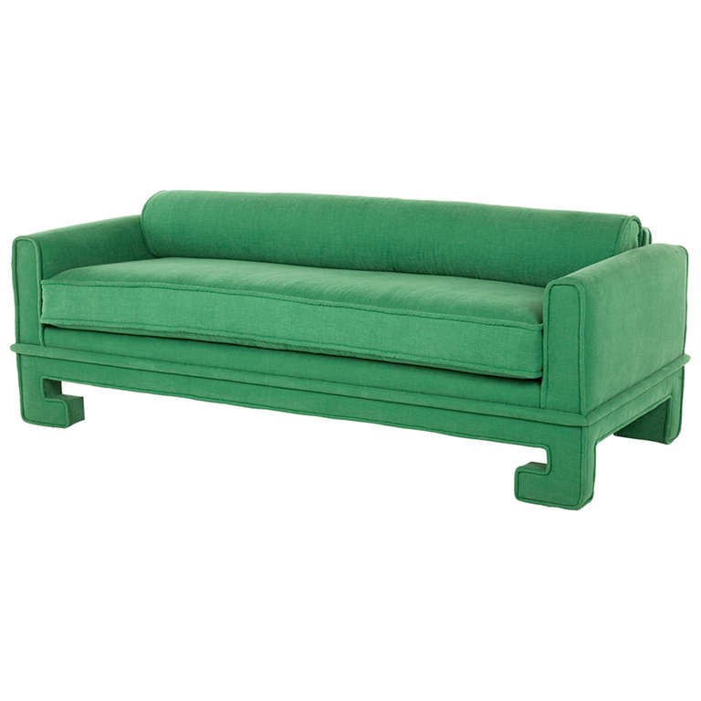 chinoiserie chic green velvet sofa high low and inspiration. Black Bedroom Furniture Sets. Home Design Ideas