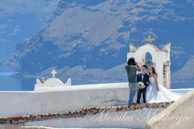 Wedding in Santorini Greece by Monika Mukherjee