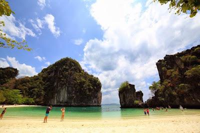 White sandy beach in Krabi islands Thailand