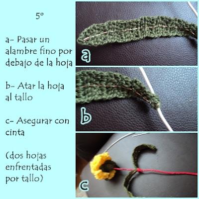 Las manitos de Yanelita: Ramillete de claveles de crochet