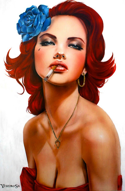 Smoking Girl by Brian Viveros 
