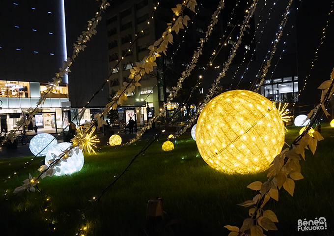 Illuminations de Noël, Tenjin, Fukuoka