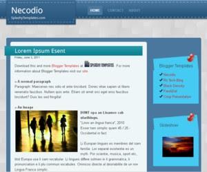 Necodio Blogger Template