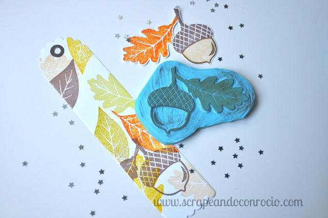 Tutorial carvado sellos otoño scrapbooking