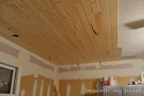 ceiling, basement, paint, painted ceiling, joists, joist, flexio 590 sprayer, rolling, exposed basement ceiling, diy, Airy Mint, N233, prepping, taping, reno, chicken wire, poultry wire, plank ceiling