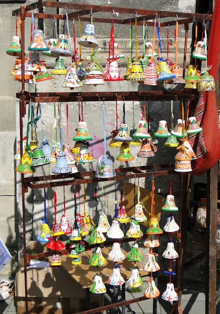 Hand-painted pottery bells, Lviv, Ukraine