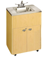 ... types of basins that are common with a stainless steel portable sink