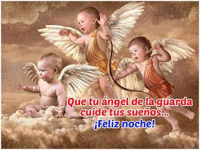bonita feliz noche angelitos