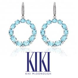 Kate Middleton - Kiki McDonough Lola Earrings in Blue Topaz
