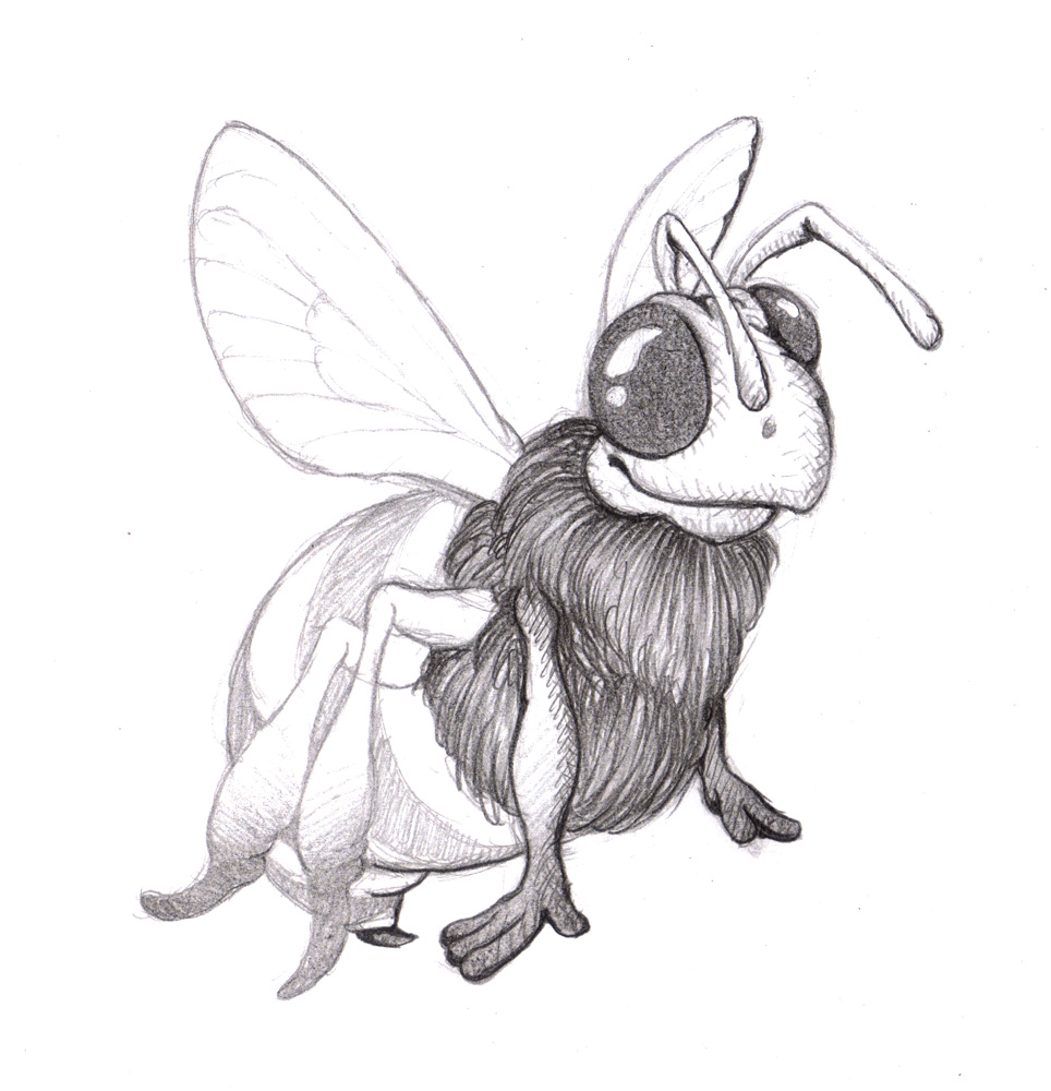 Magellin Blog Honeybee Drawing 1