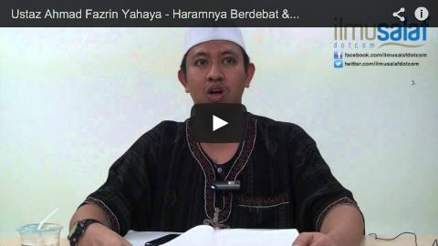 Ustaz Ahmad Fazrin Yahaya – Haramnya Berdebat & Banyak Bertanya Tanpa Keperluan
