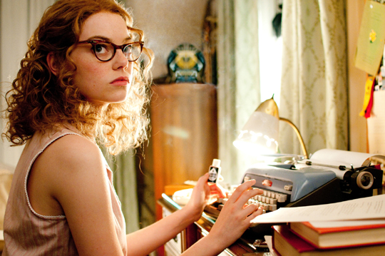 actress emma stone wearing glasses