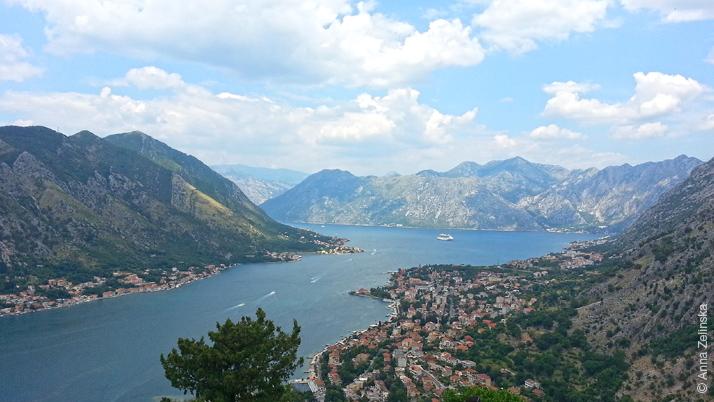 Вид на часть Боко-Которского залива, Черногория