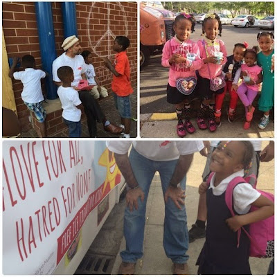 """Amerika Serikat: Berbagi ice cream Di Baltimore""""Sebarkan Pesan #LoveForAllHatredForNone"""""""