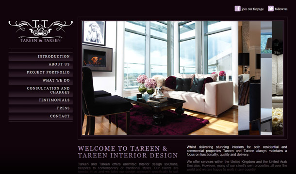 Freckle Creative: Brand new website for Tareen & Tareen Interior