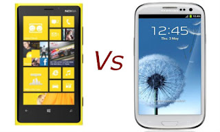 nokia lumia 920 vs samsung galaxy s4