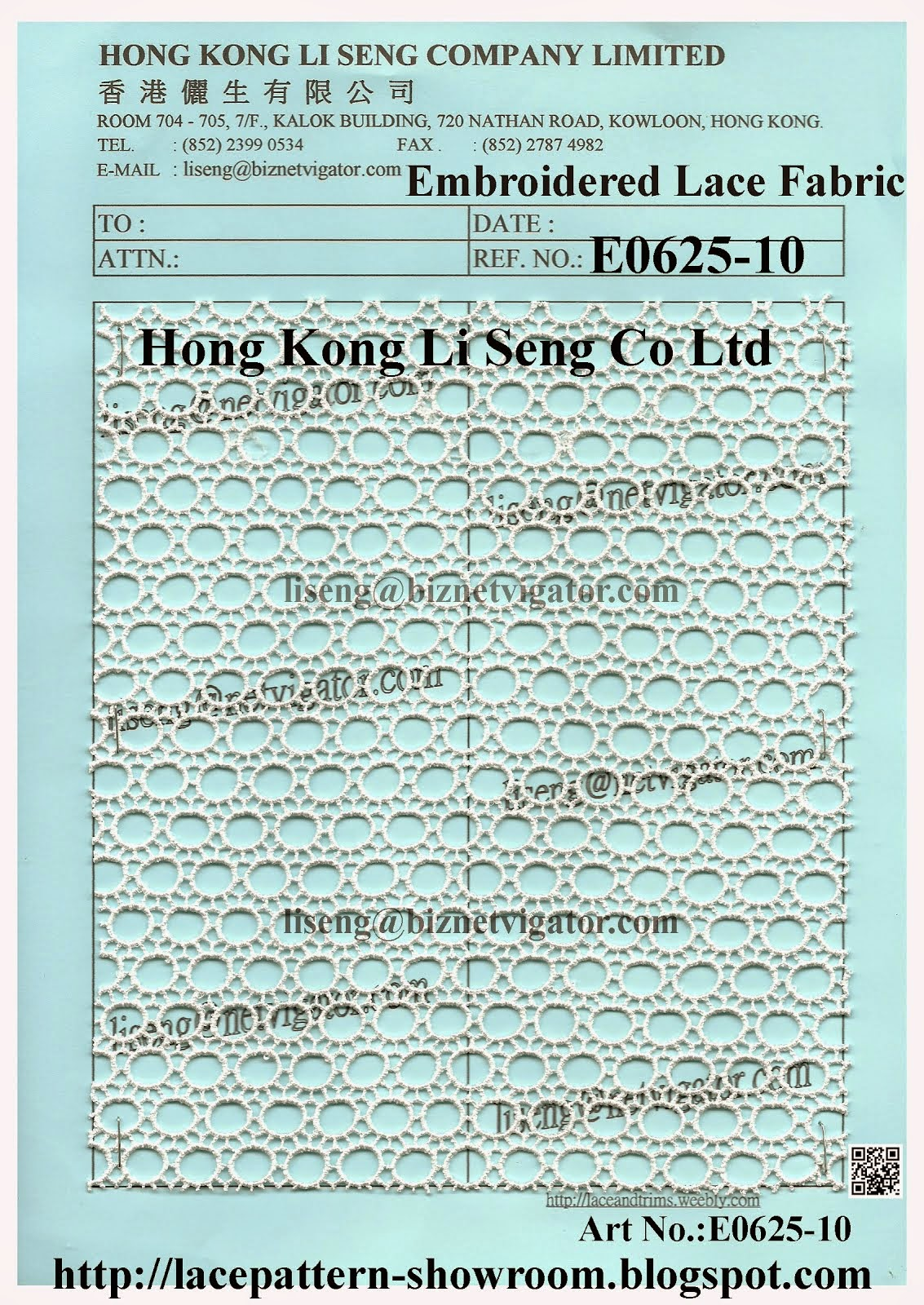 New Embroidered Lace Fabric Manufacturers Wholesale Supplier - Hong Kong Li Seng Co Ltd