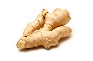 Ginger root can calm an upset stomach.