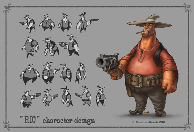 Character Design Journal : Cowboy character designs pixshark images