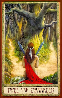 Two of Swords Druidcraft Tarot