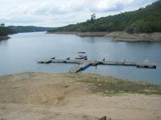 Vista do Cais de Recreio para barcos