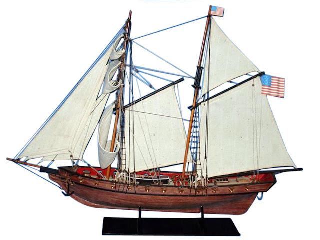 United States Schooner Wooden Model Ship Prince de Neuchatel