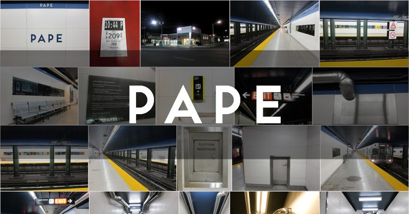 Pape station photo gallery