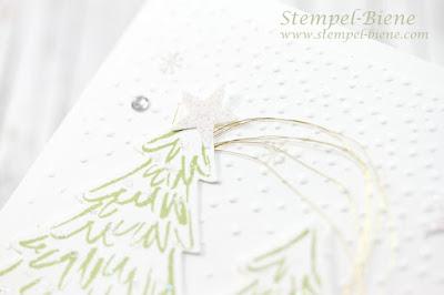 stampin up Tannenbaumkarte, weihnachtskarte mit tannenbäume, stampin up weihnachtskarte, stempel-biene
