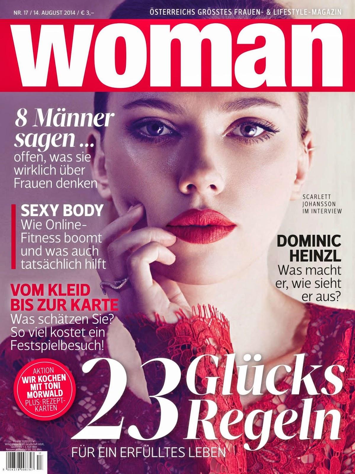 Scarlett Johansson - Woman Magazine,Germany, August 2014