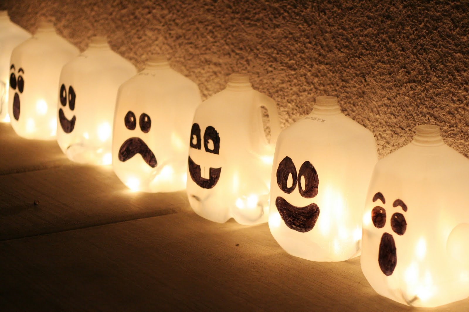 milk jug ghosts by inspiring pretty