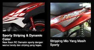 Dynamic stripping new Xeon RC vs Mio Sporty
